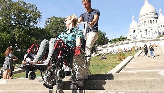 fauteuil manuel monte escalier