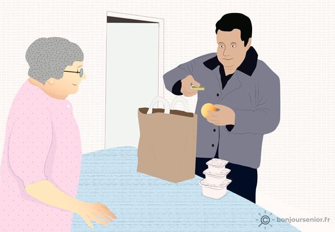 Illustration portage des repas
