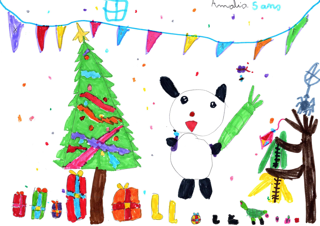 Le panda de Noël
