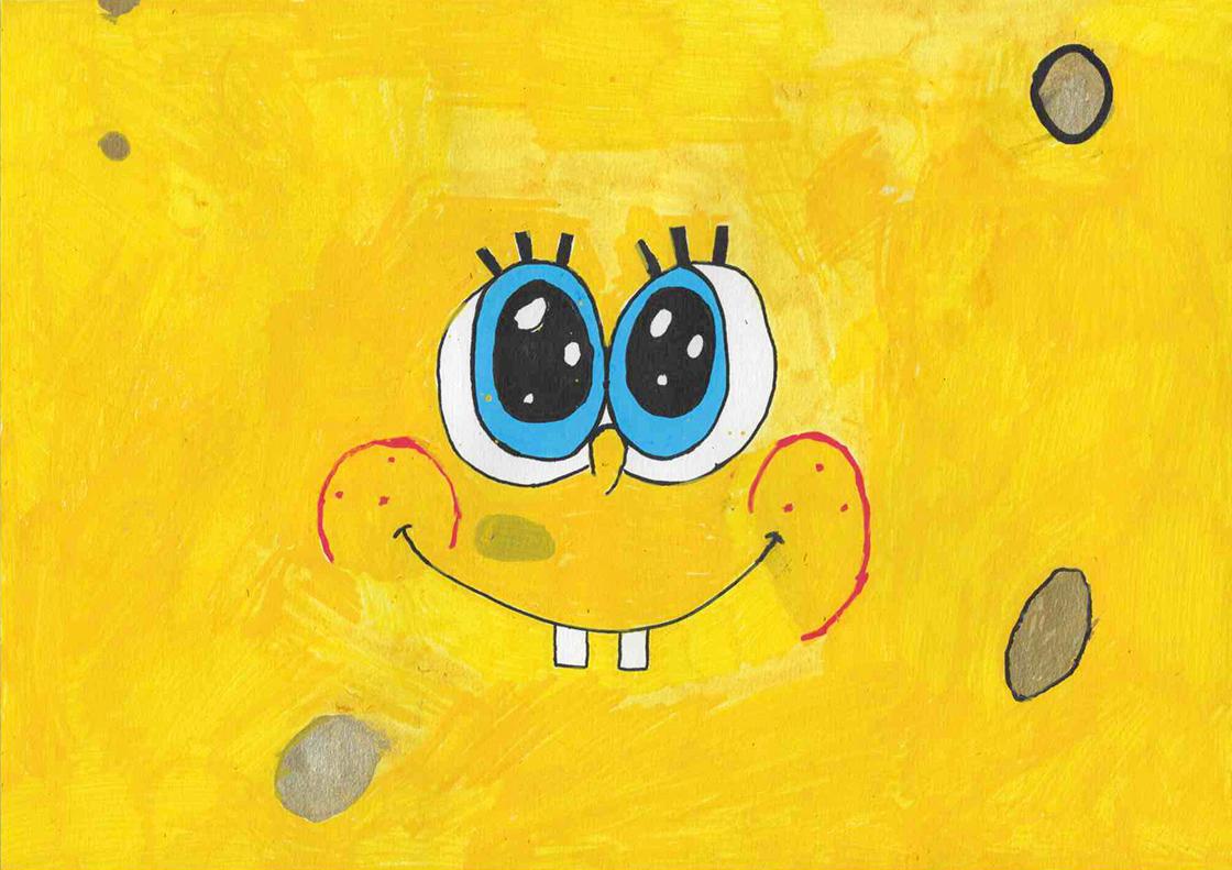 Bob l'éponge a le sourire