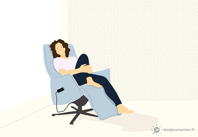 Illustration fauteuil relax