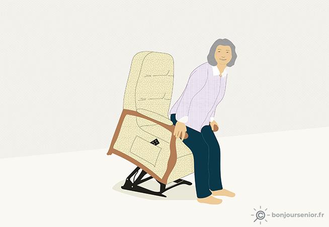 Illustration fauteuil releveur